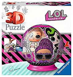 A fabulous 72 piece 3D puzzle ball featuring the cute, cool and collectable LOL dolls from LOL Surprise! Bestselling 3D puzzle brand worldwide - Our 3D jigsaw puzzles make ideal gifts for boys and great gifts for girls. Our 72 piece 3D puzzle ball ji...