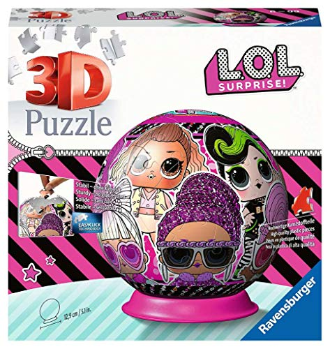Ravensburger L.O.L. 3D Puzzle Ball, Multicolore, 11162