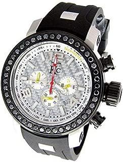 Men's New Techno Com Kc Watch Round Cut Black Diamonds 46mm Wef Genuine 3.85ct