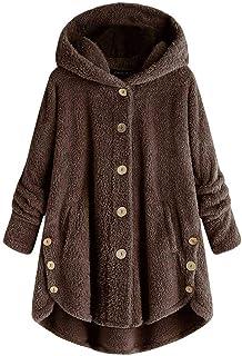 riou Mujer Sudadera con Capucha para Mujer tamaño Grande suéter para Mujer otoño e Invierno Camisa de Manga Larga Chaqueta...