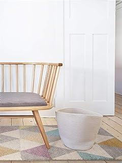 benuta Pastel Geomet Lila 80x150 cm   Moderner Teppich für Wohn-und Schlafzimmer Alfombra Moderna para salón y Dormitorio, Fibra sintética, Multicolor, 80 x 150 cm