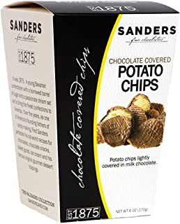 Sanders Milk Chocolate Covered Potato Chips Snacks, 6 oz