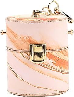 Ganghuo Petit sac à main pour femme - En forme de seau - Style décontracté - En polyuréthane - Avec bandoulière amovible -...