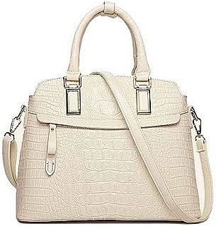 Shoulder Bag Women's Party Pu Crossbody Bags Zippers Casual Shoulder Bags Handbag Clutch (Color : Beige)