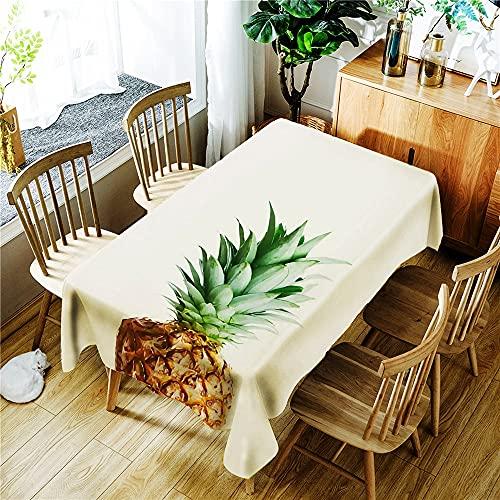 XXDD Mantel Impermeable con Estampado de Plantas de Hojas Verdes en 3D, Mantel Rectangular Lavable a Prueba de Polvo A10 140x160cm