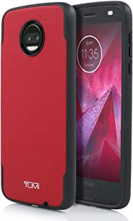 Tumi Coated Canvas Co-Mold Case for Motorola Moto Z2 Force Edition - TUMO-016-CCR-V - Red/Black