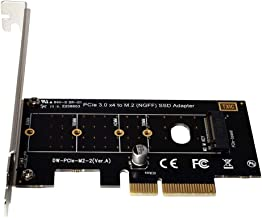 xqjtech PCI-E PCI Express 3.0 X4 to NVME M.2 NVME to NVME SSD PCI-e 3.0 x 4 Host Controller Expansion Card Support M Key SSD Type 2280 2260 2242 2230 Adapter Converter