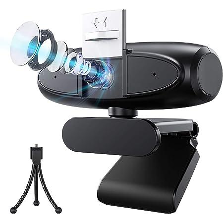 400万画像 4倍ズーム 2K高画質 ウェブカメラ 2020年革新 2560*1440解像度 フルHD Biming Webカメラ 自動フォーカス 双マイク内臓 高音質 120度広角 挿すだけ使える USBカメラ 自動光補正 ノイズ対策 三脚スタンド付き 在宅勤務 会議 ネット授業 ビデオ通話 ゲーム実況 動画配信等Windows/Android/Limuxシステム YouTube Skype zoom対応
