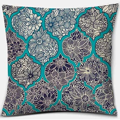 Mandala Series Z-34 Funda de almohada cuadrada impresa, decoración del hogar, funda de cojín para sofá de coche (45 cm x 45 cm)