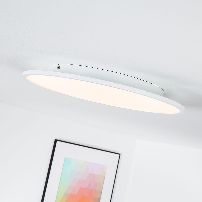 LED Panel 30W Deckenleuchte,  45 cm rund, dimmbar mit Lichtschalter, 3000 Lumen, 3000K warmwei, Metall   Kunststoff, wei
