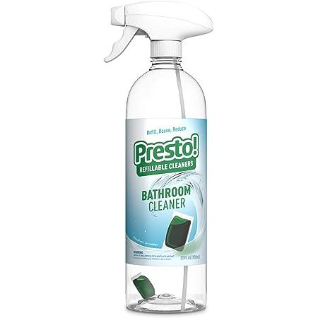 Presto! by Amazon: Bathroom Cleaner Starter Kit (1 reusable spray bottle, 1 refill pac), Refill, reuse, reduce