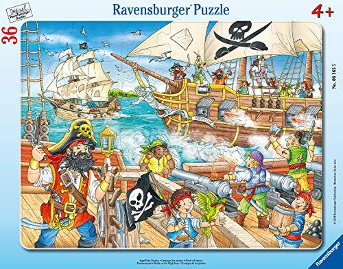 Ravensburger Kinderpuzzle 06165 - Angriff der Piraten - Rahmenpuzzle