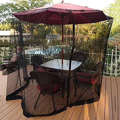 AIIOW Mosquitera para Sombrilla De Patio Red Pantalla jardín al Aire Libre del Mosquito Paraguas Sombrilla Sun Tabla Neto for el Camping La Cena una glorieta