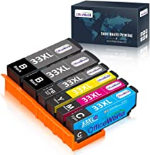OfficeWorld 33 33 XL Cartuchos de Tinta para Epson 33XL Compatible con Epson Expression Premium XP-640 XP-530 XP-900 XP-540 XP-7100 XP-830 XP-630 XP-645, 6-Pack