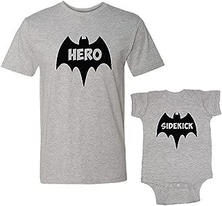 Hero & Sidekick Matching Adult T-Shirt & Baby Bodysuit Set