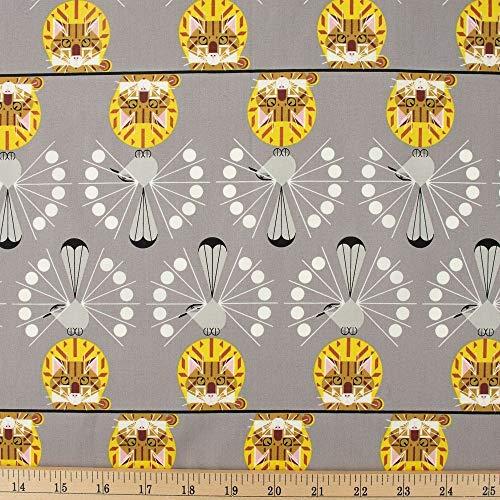 Birch Organic Fabrics Charley Harper Cat Nip, Fabric by The Yard
