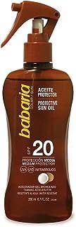 Babaria Pistola Aceite Protector Solar Coco SPF20-200 ml