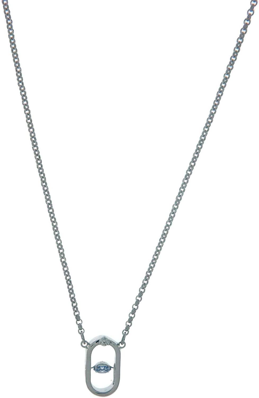 Swarovski North Necklace, Blue, Rhodium Plating