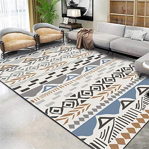 RUGYUW Mesa De Centro La Alfombraes Diseñador de Estilo Minimalista Gris Negro Azul marrón,salón dormitorios Room comedores pasillos Cocina alfombras (1'12''X2'11''ft)