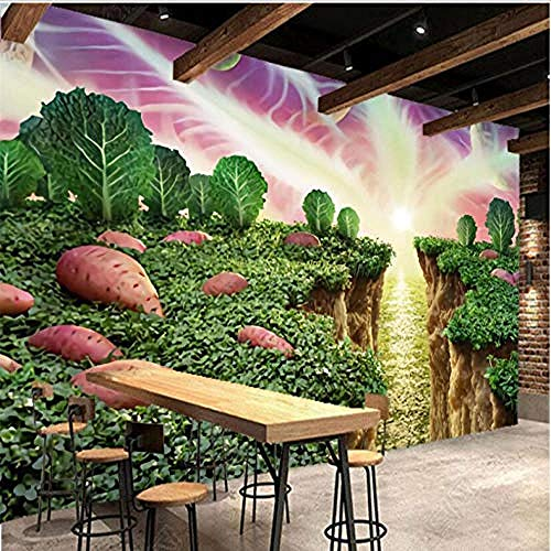 Handgemalte Süßkartoffel Gemüse Restaurant Supermarkt Obstladen Wandbild Wallpaper Wanddekoration fototapete 3d Tapete effekt Vlies wandbild Schlafzimmer-350cm×256cm