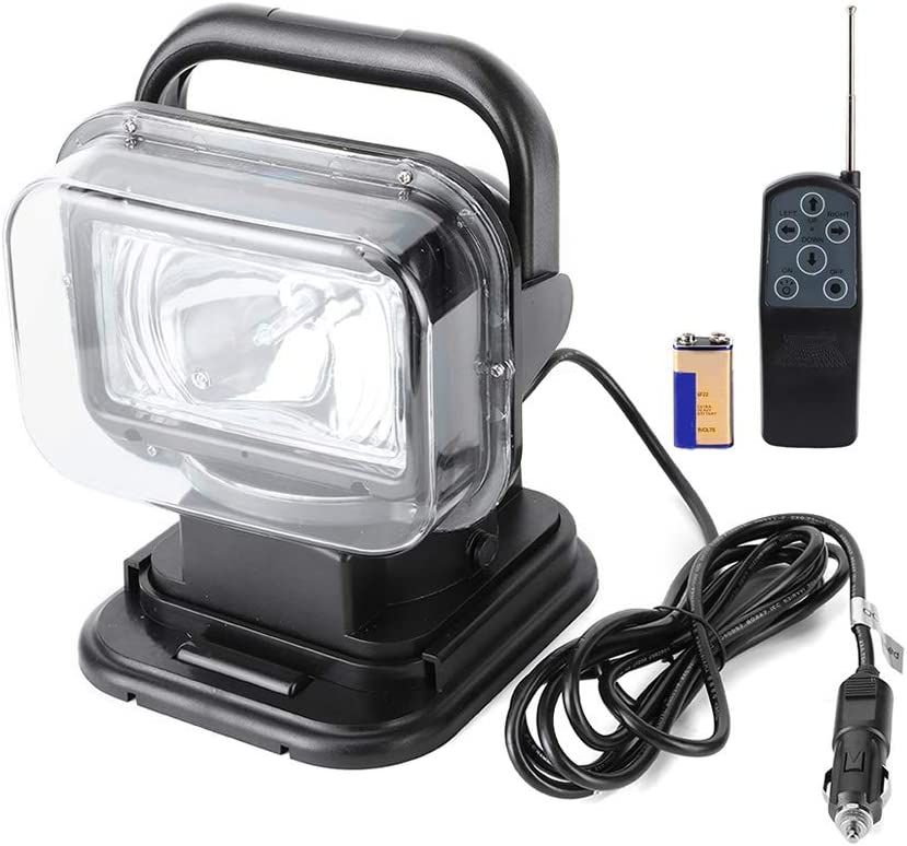 Adjustable Searchlight 12V 75W Online 5 popular limited product ABS Light 360 R Searching Degree