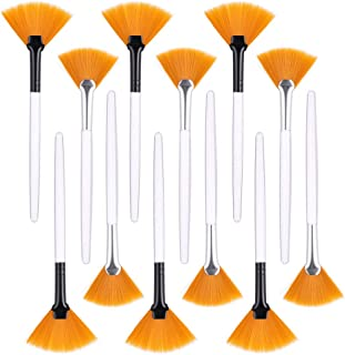 ZYXY 12 Pack Fan Brushes Soft Facial Brushes Fan Makeup Brushes Mud Mixed Brush Acid Applicator Beauty Tools for Glycolic ...