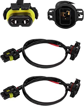 huiqiaods jeep wrangler jk fog light wiring harness kit 5202 h16 to 9006  9005 hb3 wiring