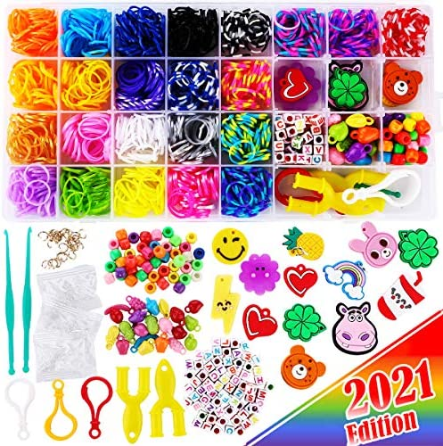2200 FunzBo Loom Rubber Bands for Bracelet Colorful Jewelry Making Kit for Kids Craft and Art product image