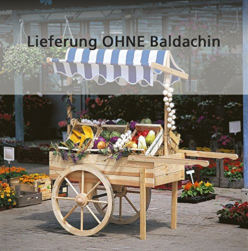 Marktwagen / Dekowagen / Holzwagen ohne Baldachin, Holz | Höhe 184 cm