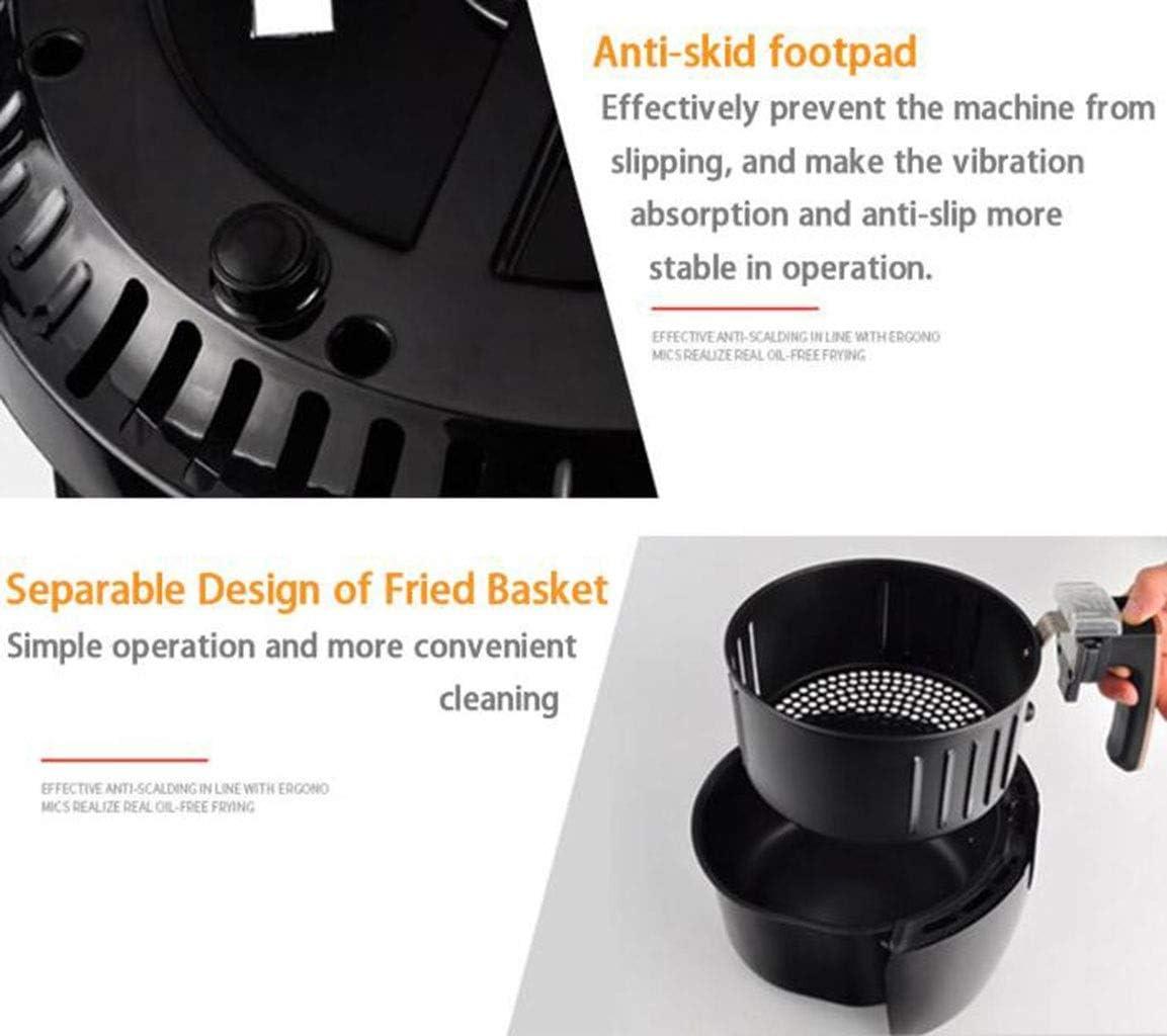 1350W High Power Air Fryer - 5.2L LED tactile numérique de température Programmateur d'outil de contrôle électrique de cuisine (Color : Black) Black
