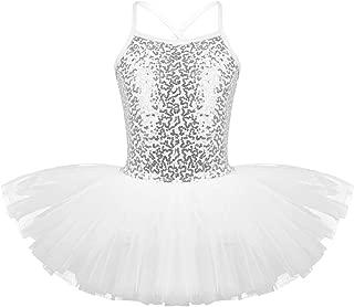 Freebily Girls Sequined Camisole Leotard Ballet Dancing Tutu Lyrical Dance Skirt Dress Ballerina Dancewear Costumes