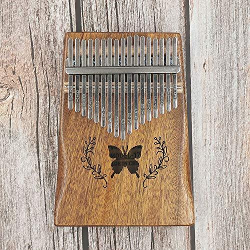 SFFSM Madera de Pino Cuerpo Pulgar Piano 17 Teclas de Piano Kalimba Hijos Adultos Instrumento Musical con el Aprendizaje Libro Tune Martillo (Color : Burlywood)