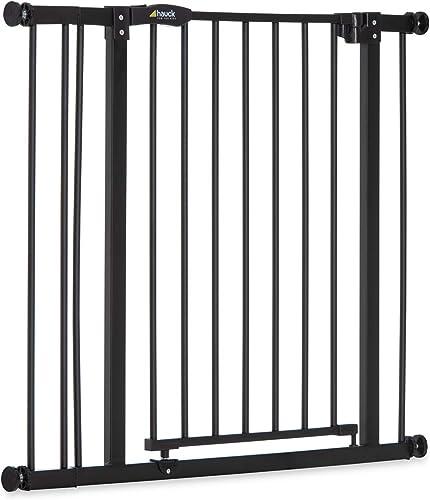 Hauck Barrière de Sécurité pour Enfants Close N Stop incl. Extension de 9 cm / de 84 à 89 cm / Sans Percage / Métal /...