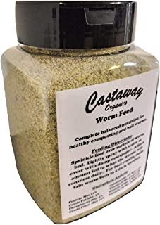 Castaway Organics Worm Feed (Worm Chow, Food for All Composting Worms and Bait Worms) (Shaker Bottle)