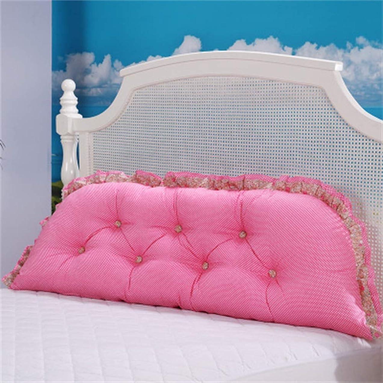 未満ビデオ舗装するGLP 韓国のプリンセスガーデン綿ヘッド背もたれベッドソファ大クッション枕枕腰椎枕取り外し可能と洗える、24色&5サイズ (Color : T, Size : 200x20x60cm)
