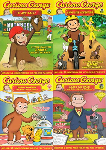 Curious George Collection # 3 (Plays Ball! / A Bike Ride Adventure! / Robot Monkey and More Great Gadgets! / Leads the Band and Other Musical Mayhem!)