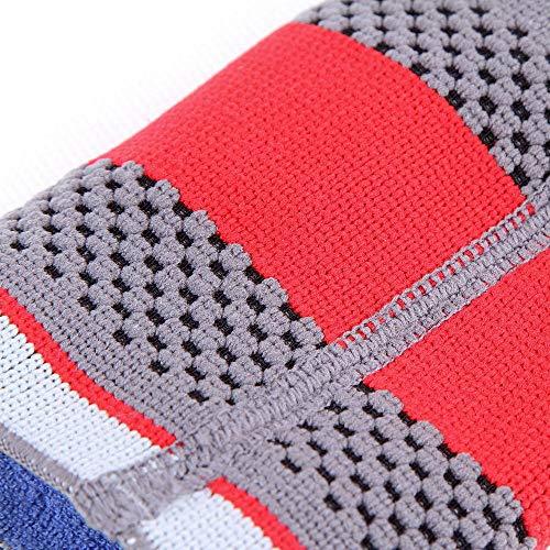 LLJDD 1 PC Mumian S02 Transpirable Antideslizante 3D Tejido de Silicona Support Support Deportes Fitness Baloncesto Codo Guardia (Color : M)