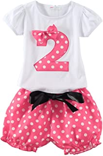 Little Girls Birthday Clothes Sets for Gifts