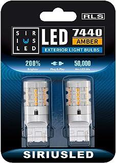 SIRIUSLED RLS 7440 7440A Built in Resistor Anti Hyper flashing LED Bulb Turn Signal Light Amber Orange Color Full Aluminum...