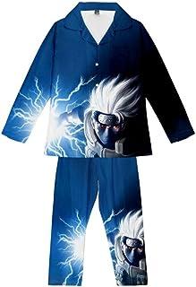 Pyjama Sets Anime Uchiha Sasuke Ninja Teens Loungewear Soft Comfortable Pajamas Top & Bottoms 2 Piece
