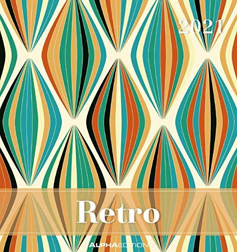 Retro 2021 - Postkartenkalender 16x17 cm - mit Sprüchen - zum aufstellen oder aufhängen - Geschenk-Idee - Gadget - Alpha Edition