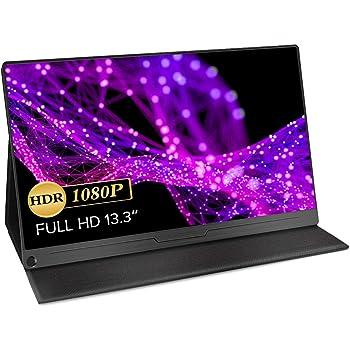 EVICIV 13.3インチ/モバイルモニター/モバイルディスプレイ/薄型/IPSパネル/USB Type-C/標準HDMI/mini DP/スリーブケース付 EVC-1301