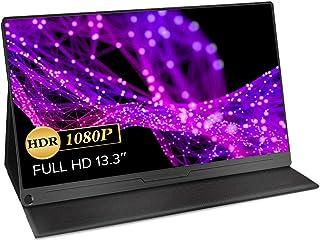 EVICIV 13.3インチ/モバイルモニター/モバイルディスプレイ/薄型/IPSパネル/USB Type-C/標準HD/mini DP/スリーブケース付 EVC-1301