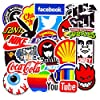 Waterproof Vinyl Stickers for Laptop Water Bottles Hydro flask Motorcycle Bicycle Skateboard Luggage Car Bumper Guitar Decals (100 Pcs Brand Logo Style Stickers) #2