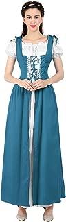 Renaissance Costume Women Medieval Irish Over Dress Chemise