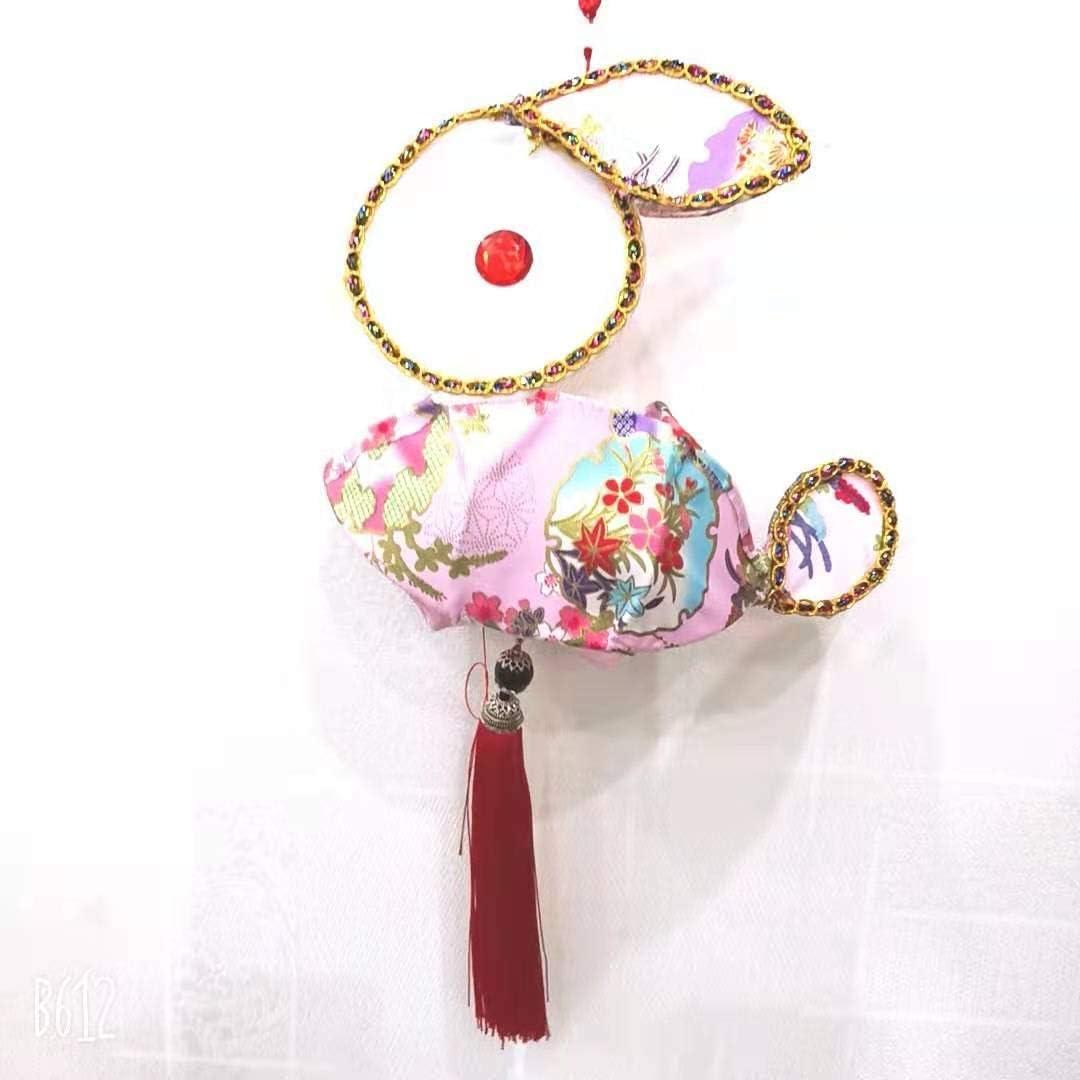 1 Los Angeles Mall Pcs Handmade DIY Flower Max 67% OFF Lantern Flannel Walking Portable Horse