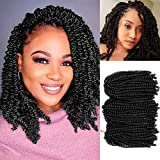 Senegalese Twist Crochet Hair Small Twist Crochet Braiding Hair 22 inch Ombre Senegalese Twist Crochet Braids Synthetic Hair Extensions 35 Stands 8Packs for women and girl (22inch-1B)