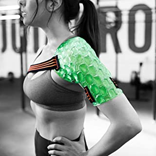 Kool'N FX Hot & Cold Therapy, Reusable Shoulder & Arm Gel Pack with Adjustable Straps - Great for Sports Injuries, Rotator Cuff, Rheumatoid Arthritis, Bursitis,Tendinitis & More (Medium, Right)