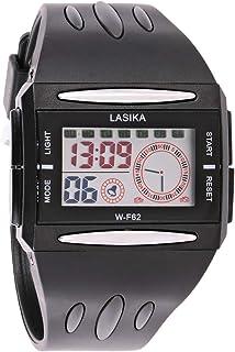 ساعة بمينا رمادي وسوار من البولي يوريثين للجنسين من لاسيكا - WS062