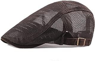WYMAI Men's Mesh Cap, Female Youth Casual Cap, Sunshade Cap, Multi-Color Optional, Adjustable (55-60cm) Simple and Practical Product (Color : Brown)